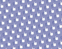 Like Facebook logo wall Royalty Free Stock Image