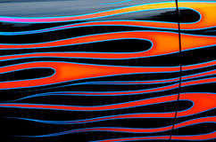 Like Flames - custom car art. Custom car airbrush art showing flowing flames Royalty Free Stock Photography