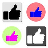 Like. flat vector icon vector illustration