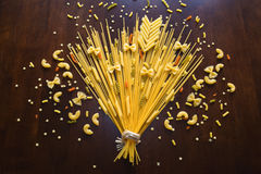Like a flower growing pasta Royalty Free Stock Image