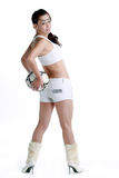 Like football Oriental female Royalty Free Stock Image