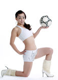 Like football Oriental female Royalty Free Stock Photos