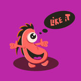 Like it funny character Royalty Free Stock Image