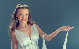 Like goddess in  diadem Royalty Free Stock Image