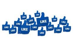 Like. Graphic design illustration image Stock Photo