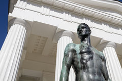 Like a Greek God. A Statue placed in front of a monument in Vienna, Austria stock images