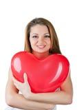 like härlig hjärta för luftballongen kvinnan Arkivbild