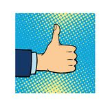 Like hand finger up sign icon vector. Like hand finger up sign thumb icon symbol success community line art vector. Finger up like hand icon and approve like Stock Photography
