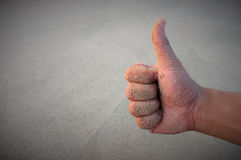 Like hand,sandy hands Royalty Free Stock Images