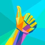 Like,hand sign geometrical style Stock Images