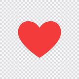 Like and Heart icon. Live stream video, chat, likes. Social nets like red heart web buttons isolated on white background Stock Photography