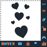 Like, Heart Love icon flat stock illustration