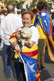 Like a Hero at National Day of Catalonia Royalty Free Stock Photography