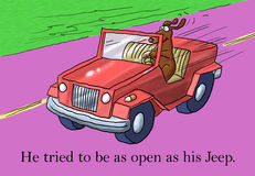 Like his car he was open to new things Stock Photography