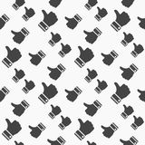Like icon seamless pattern background. Business flat vector illustration. Thumb up sign symbol pattern. eps10. Like icon seamless pattern background. Business vector illustration