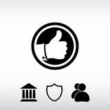 LIKE icon , vector illustration. Flat design style Royalty Free Stock Photos