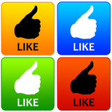 Like icons Royalty Free Stock Image