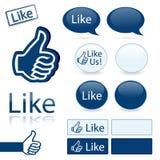 Like icons Royalty Free Stock Photos