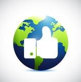 Like international globe illustration design Stock Photos