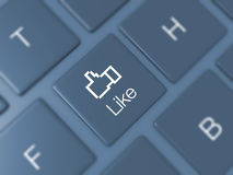 Like Key on Keyboard Royalty Free Stock Images