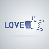Like, Link and Love icons Royalty Free Stock Photos