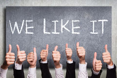 We like it. Many thumbs up to 'we like it stock photography
