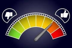 Like measurement meter dashboard arrow vector illustration Royalty Free Stock Images