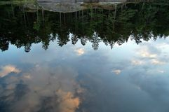 Like a mirror. The clouds in the water Royalty Free Stock Photos