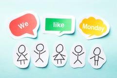 We like Monday Stock Photo