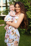 Like mother like daughter. beautiful family in similar dresses Royalty Free Stock Photography