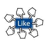 Like.mouse-Cursor, der wie Knopf drückt Lizenzfreies Stockfoto