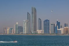 Abu Dhabi: a view from the roof stock image