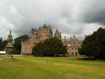 Like out of a fairy tale - Glamis Castle, Scotland royalty free stock image