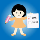 Like over dislike vector Stock Images