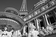 Almost Like Paris in Vegas!. Eiffel Tower at Paris Hotel is half scale of the original Royalty Free Stock Photo