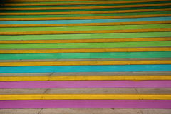 Like a rainbow of the steps Stock Photography