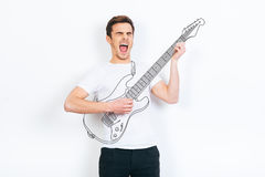 Like a rock star. Royalty Free Stock Image
