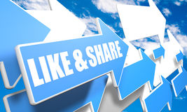 Like and Share Royalty Free Stock Photo