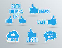 Like and share labels Stock Image