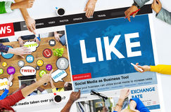 Like Share Social Media News Feed Concept Stock Photography