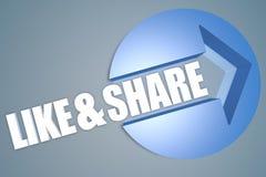 Like and Share Stock Photo