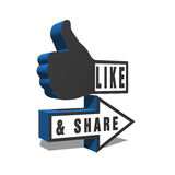 Like and Share Thumbs Up Stock Photography