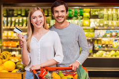 We like shopping together. Royalty Free Stock Image
