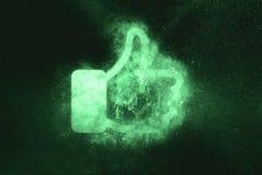 Like sign, Like symbol. Green symbol royalty free illustration