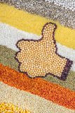 Like sign made of legumes Stock Photography