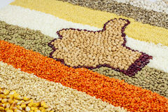Like sign made of legumes Stock Image