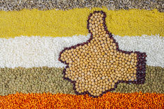 Like sign made of legumes Stock Images