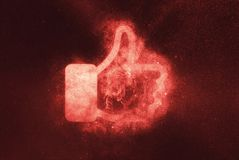 Like sign, Like symbol. Abstract night sky background royalty free illustration