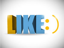 Like and smile face illustration design Royalty Free Stock Images