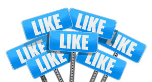 Like Social media networking concept Stock Photo